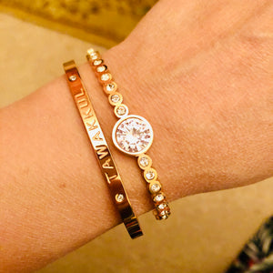Reliance Rose Gold Cuff Bangle