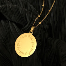 Load image into Gallery viewer, NEW! RUMInate Collection - Rumi quote Yellow Gold Necklace