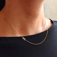 Load image into Gallery viewer, Rolled Gold Initial Necklet - letter M