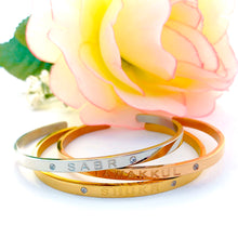 Load image into Gallery viewer, Gratitude Gold Cuff Bangle