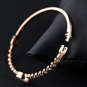"""Sabr - this too shall pass"" Rose Gold Bangle"