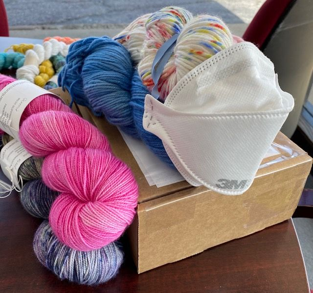 Covid Brings Creativity and the Mystery Quarantine Box of Yarn