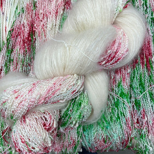 Joy with white mohair