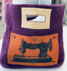 Square with Sewing machine