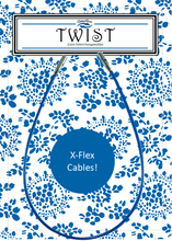 "Load image into Gallery viewer, Twist-X Blue Cable / 5"" Blue"