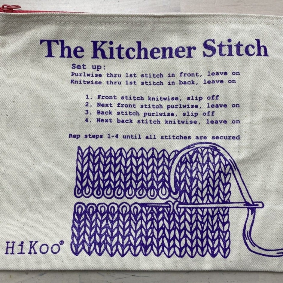 Kitchener Stitch bag