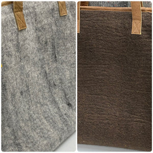 Two tone grey-brown