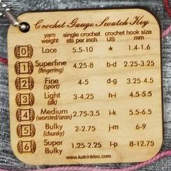 Crochet Gauge Swatch key