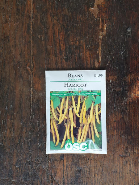 Bean Golden Wax Seed