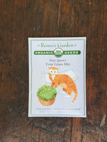 Cat Grass Kitty Queen's Mix Organic Seed