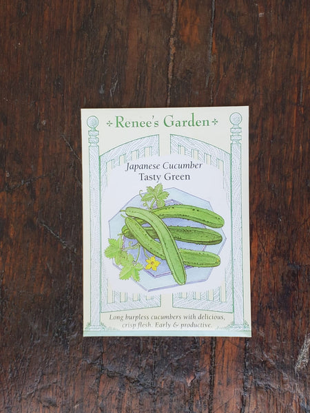 Cucumber Japanese Tasty Green Seed