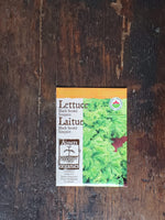 Lettuce Organic Black Seeded Simpson Seed