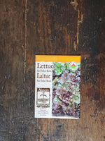Lettuce Organic Red Salad Bowl Seed