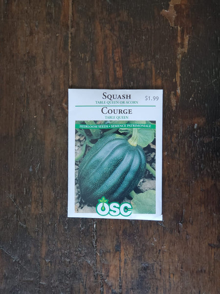 Squash Table Queen or Acorn Seed