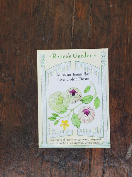 Tomatillos Green & Purple Fiesta Duo Seed