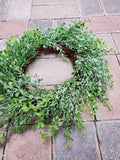 Silk Wreath Eucalyptus with Glitter