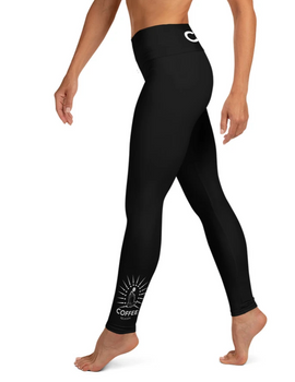 BLACK COFFEE RELIGION Ankle Tattoo Yoga Leggings
