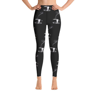 Open image in slideshow, Coffee Religion Coffee Coffee Coffee Yoga Leggings