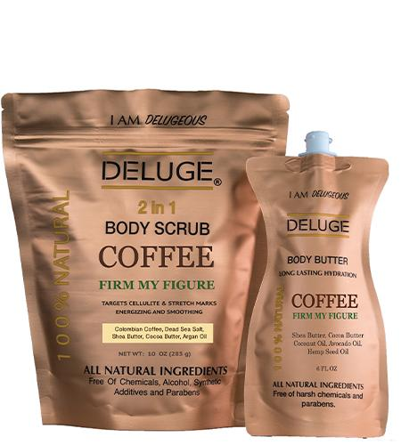 Deluge COFFEE SCRUB and COFFEE BUTTER Beauty collection Set