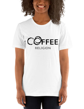 COFFEE RELIGION Coffee Stains Short-Sleeve Unisex T-Shirt