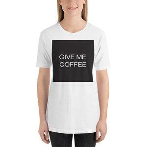 Open image in slideshow, GIVE ME COFFEE by Coffee Religion Long Unisex T-Shirt