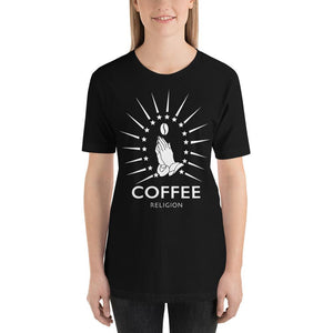 Open image in slideshow, COFFEE RELIGION Logo Tee Long Unisex T-Shirt - COFFEE RELIGION