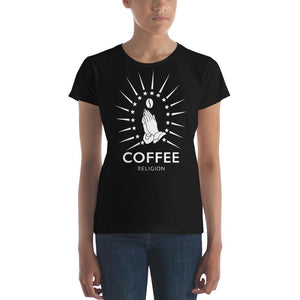 Open image in slideshow, COFFEE RELIGION Fashion fit t-shirt - COFFEE RELIGION