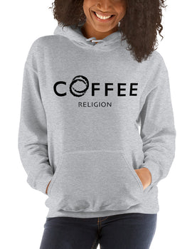 COFFEE RELIGION Embroided Unisex Hoodie