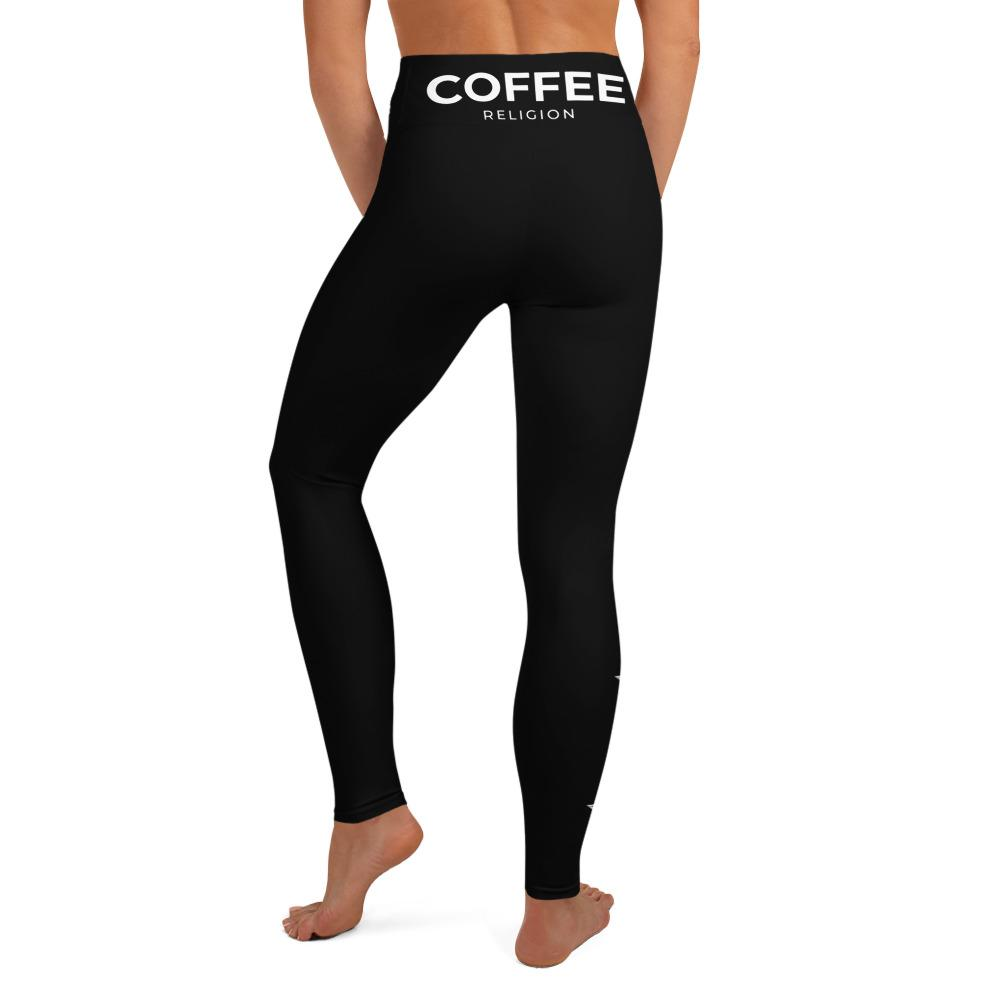 COFFEE RELIGION STAR Yoga Leggings - COFFEE RELIGION