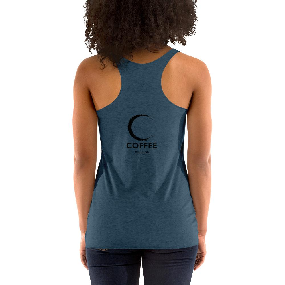 COFFEE RELIGION MOON yoga racerback Tee T-Shirt (MORE COLORS) - COFFEE RELIGION