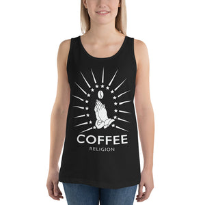 Open image in slideshow, COFFEE RELIGION 2020 Graphic T-Shirt Long Unisex Tank Top