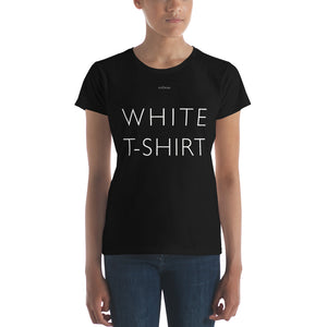 Open image in slideshow, WHITE T-SHIRT Black Designer Short Sleeve Slim Fitted Tee by Katana