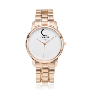 Open image in slideshow, COFFEE RELIGION MIAMI COFFEE TIME Minimalist Watch in Rose Gold