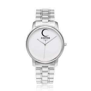 Open image in slideshow, COFFEE RELIGION MIAMI COFFEE TIME Minimalist Watch in Silver
