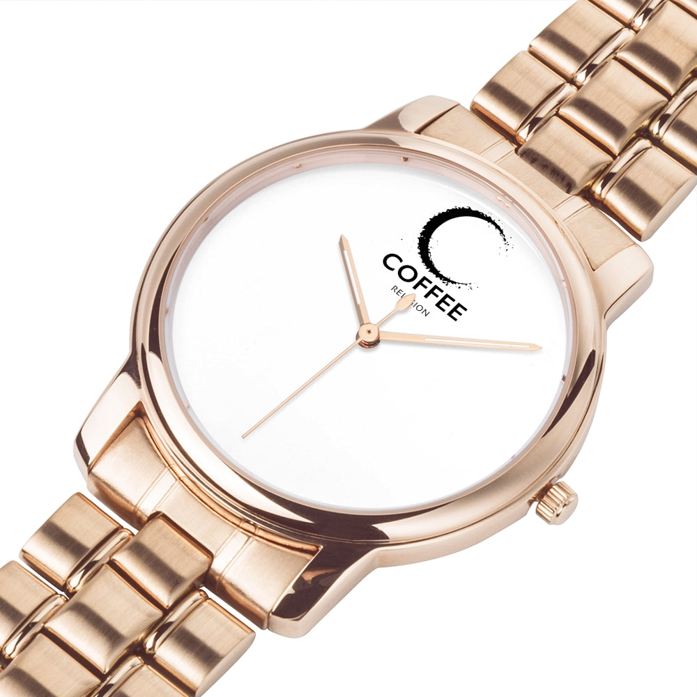 COFFEE RELIGION MIAMI COFFEE TIME Minimalist Watch in Rose Gold