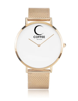 COFFEE RELIGION COFFEE TIME New York Rose Gold Minimalist Watch