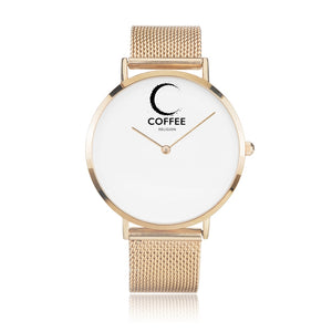 Open image in slideshow, COFFEE RELIGION COFFEE TIME New York Rose Gold Minimalist Watch