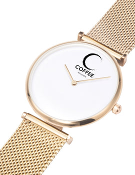 COFFEE RELIGION COFFEE TIME Palm Beach Rose Gold Minimalist Watch