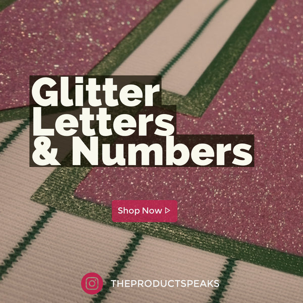 Glitter  Letters & Numbers