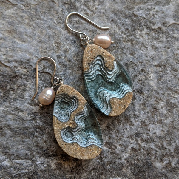 BOLDB ROCKPOOL EARRINGS - BLUE