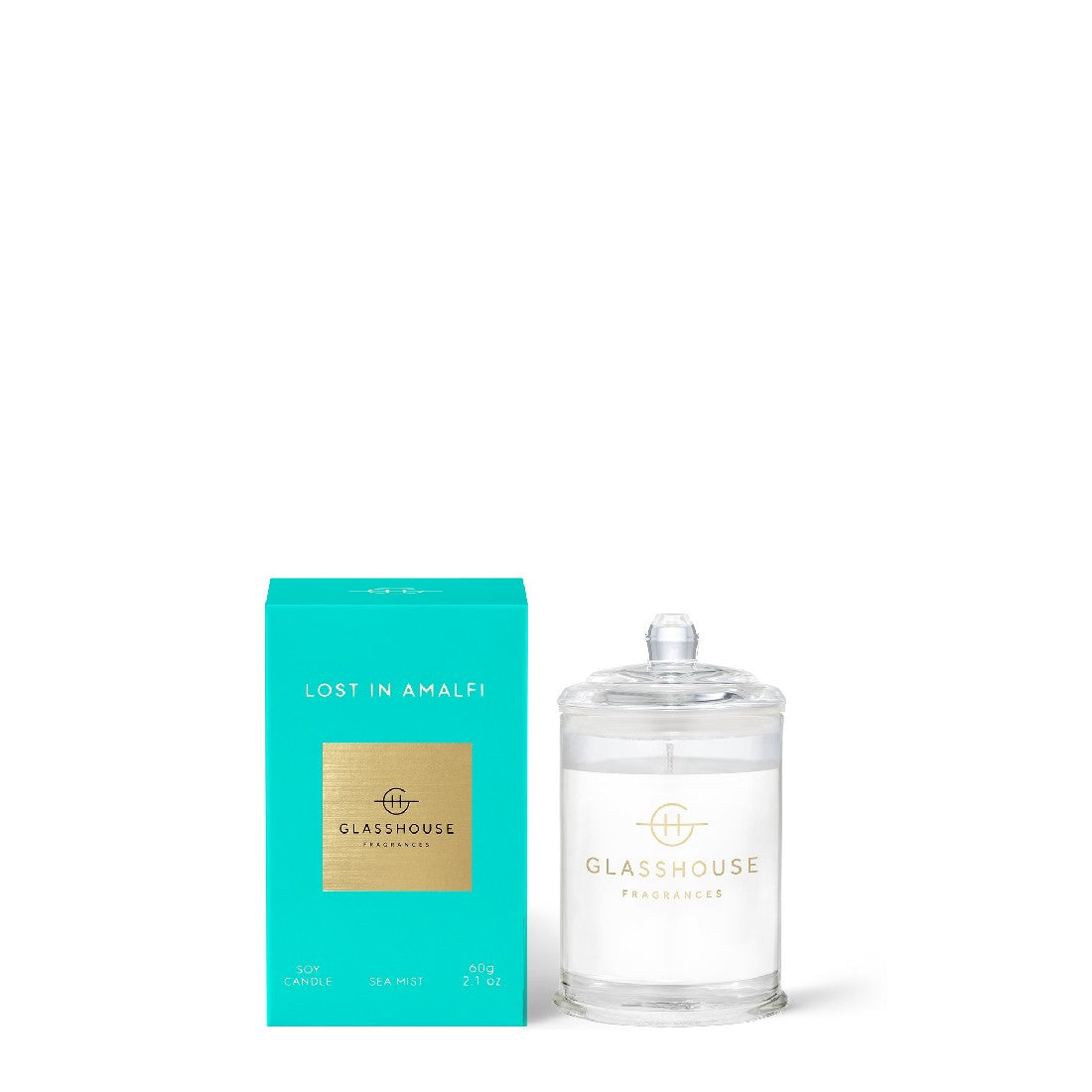 GLASSHOUSE SEA MIST- LOST IN AMALFI 60g SOY CANDLE