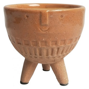URBAN PRODUCTS PLANTER FACE ON LEGS TERRACOTTA SM 11CM