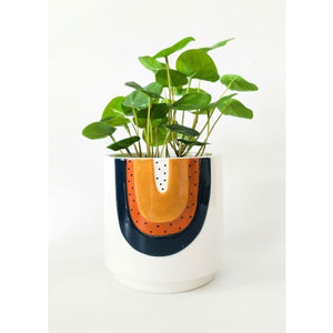 URBAN PRODUCTS RAINBOW PLANTER BLUE MED H20x18x18cm