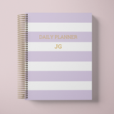 DAILY PLANNER * LAVENDER STRIPES * UNDATED AGENDA | PLANNER DIÁRIO PERPÉTUO