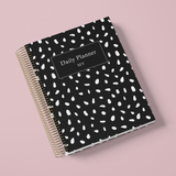 DAILY PLANNER * BLACK DROPS * UNDATED AGENDA | PLANNER DIÁRIO PERPÉTUO