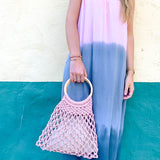 CAMILA MINI MACRAMÉ BAG | DUSTY PINK