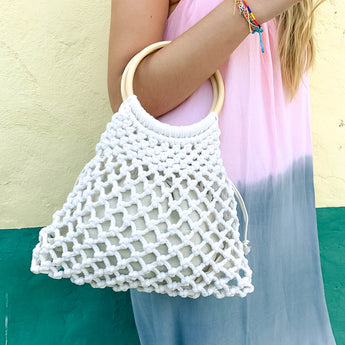 CAMILA MINI MACRAMÉ BAG | VANILLA