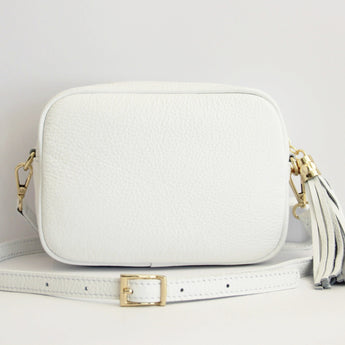MONOGRAM CAMERA BAG | WHITE