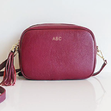 MONOGRAM CAMERA BAG | BURGUNDY