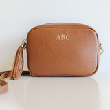 MONOGRAM CAMERA BAG | CAMEL